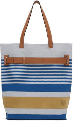 Loewe Blue and White Striped Tote
