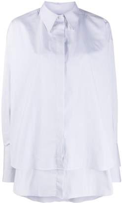 Rokh striped layered shirt