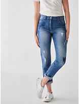 Great Plains Floral Denim Skinny Jeans, Classic Navy