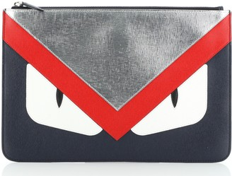 Fendi Monster Pouch Leather Medium