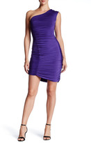 Soprano One Shoulder Ruched Coco Dress (Juniors)