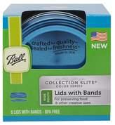 Ball Set of 6 Lids & Bands - Blue