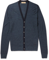 Burberry - London Slim-fit Silk And Cotton-blend Cardigan