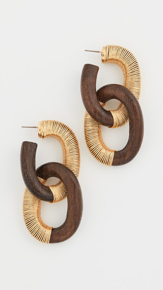 Oscar de la Renta Thread Link Earrings