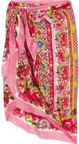 Dolce & Gabbana Printed Cotton-gauze Pareo - Red