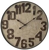 Infinity Instruments Marbled Mocha Wall Clock - Black