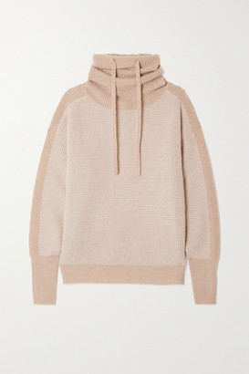 Eres Kiosque Waffle-knit Wool And Cashmere-blend Turtleneck Sweater - Beige
