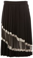 Maison Margiela sheer panel pleated skirt - women - Silk/Acrylic/Polyester/Wool - 40