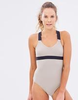 Running Bare Demi-Pliu00e9 Cross-Back Bodysuit