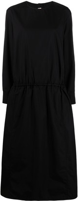 Marni Dropped Waist Long-Sleeve Dress
