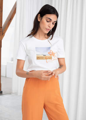 And other stories Beach Graphic Tee
