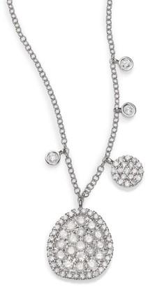 Meira T Diamond & 14K White Gold Ice Disc Necklace
