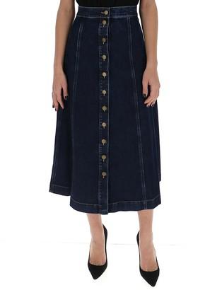 L'Autre Chose A-Line Denim Skirt
