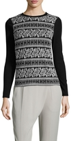 Vivienne Tam Women's Embroidered Crewneck Top
