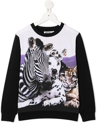 Molo Regine animals-print sweatshirt