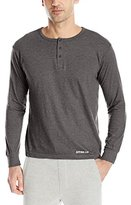 Bottoms Out Men's Long Sleeve Henley Crew Tee