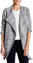 Astr Draped Front Open Boucle Jacket