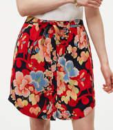 LOFT Tropic Tie Waist Button Skirt