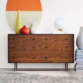west elm Modernist Wood + Lacquer 6-Drawer Dresser