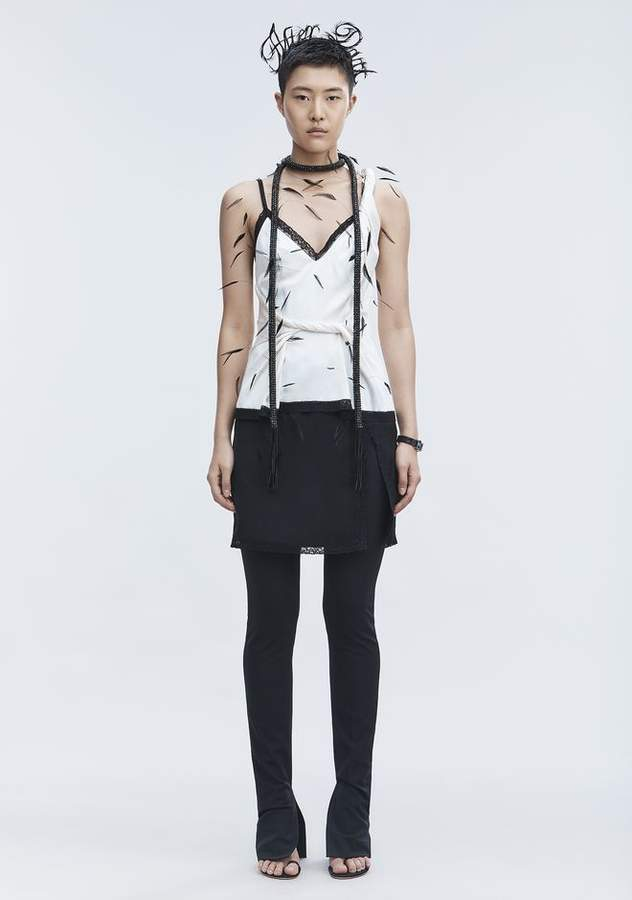 Alexander Wang TWISTED DECONSTRUCTED CAMI TOP