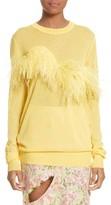Marques Almeida Women's Marques'Almeida Ostrich Feather Trim Sweater