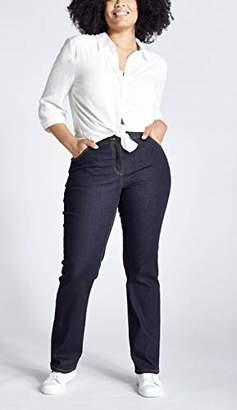 Ulla Popken Women's Escape Reality Tee Straight Jeans,(Size: 50)