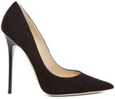 Jimmy Choo Anouk Suede Pumps in Black.