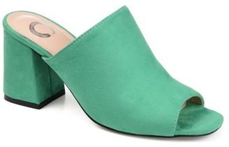 Brinley Co. Womens Peep Toe Slide