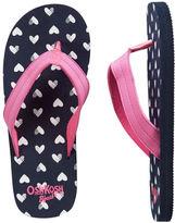 Osh Kosh OshKosh Heart Print Flip Flops