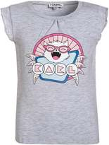 Karl Lagerfeld Print Tshirt grey heather