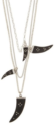 Isabel Marant Layered Horn-charm Necklace - Silver