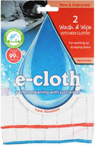 E-cloth E Cloth Wash & Wipe Kitchen Cloths Set/2