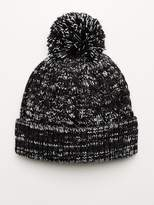 V By Very Cable Fleck Bobble Hat
