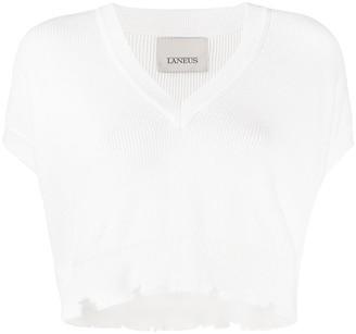 Laneus Distressed Hem Top