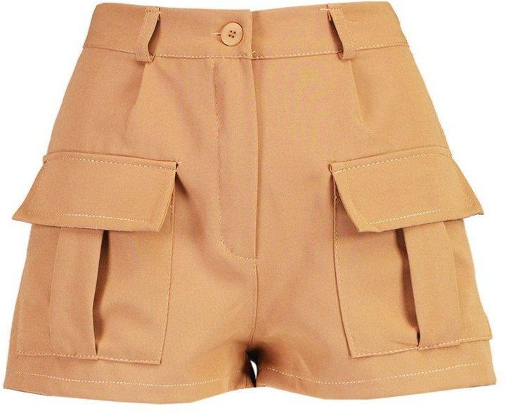 Thumbnail for your product : boohoo Petite Utility Pocket Shorts