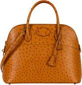 One Kings Lane Vintage Hermès Chestnut 35cm Ostrich Bolide Bag