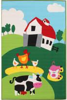 Farm Multi Rubber Backed Kids Rug