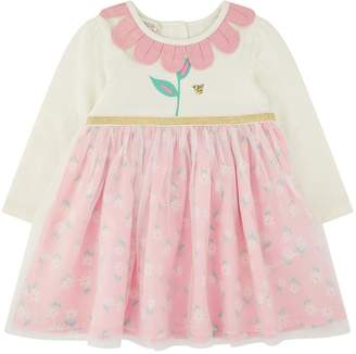 Monsoon Baby Girls Dolcy 2in1 Dress - Pink