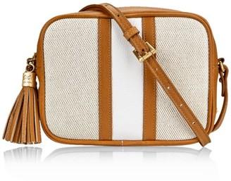 GiGi New York Maddie Leather-Trimmed Canvas Camera Bag