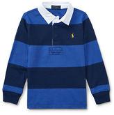 Ralph Lauren Childrenswear Striped Cotton Rugby Shirt