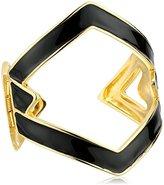 Kenneth Jay Lane Three Diamond Open Link Cuff Bracelet