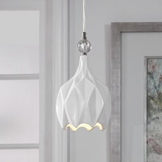 House of Hampton Mahaffey 1 - Light Single Teardrop Pendant