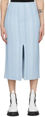 Proenza Schouler Blue Knit Ottoman Skirt