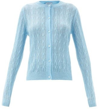 Prada Cable-knit Cardigan - Blue