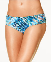 Kenneth Cole Sporty Splice Printed Hipster Bikini Bottoms