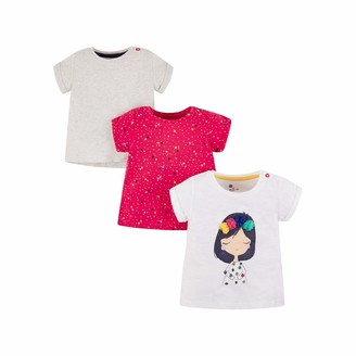 Mothercare Baby Girls' MG PA Gry/Pink 3PK TEE T-Shirt