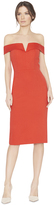Alice + Olivia Sienna Off Shoulder Fitted Dress