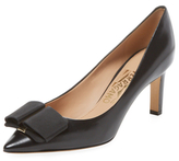 Salvatore Ferragamo Mini Leather Oversized Bow Pump