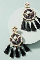 Mercedes Salazar Woven Dreamcatcher Drop Earrings