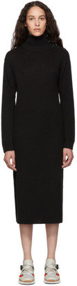 See by Chloe Black Knit Turtleneck Dress